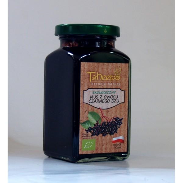 Ekologiczny mus z owoców czarnego bzu 300g