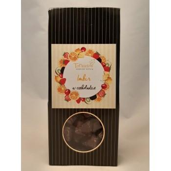 Imbir w czekoladzie 150g